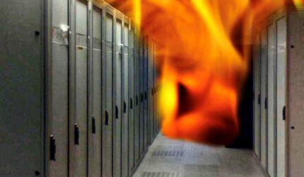 Server room integrity test fire