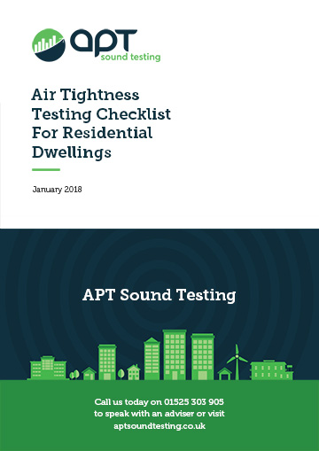 air ightness testing checklist for residential dwellings