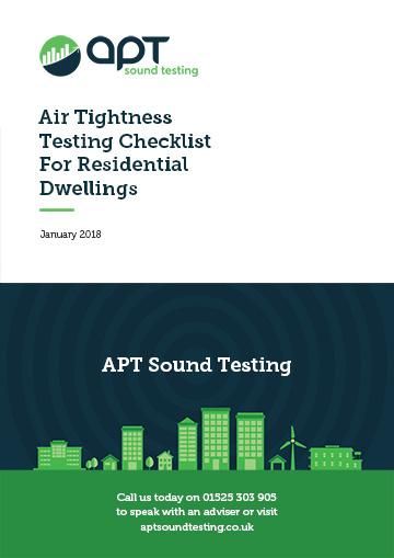 air ightness testing checklist for residential dwellings