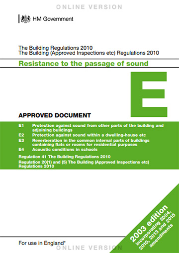 Approved document E