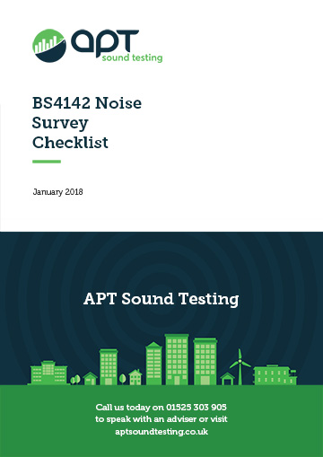 bs4142 noise survey checklist