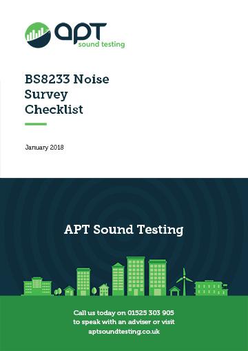 bs8233 noise survey checklist