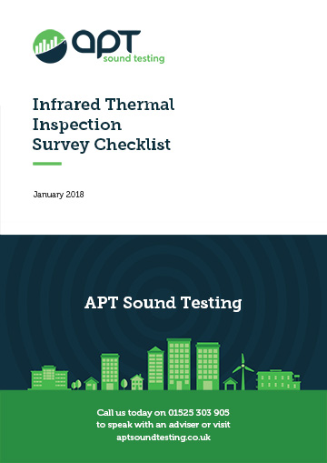 Infrared thermal inspection survey checklist