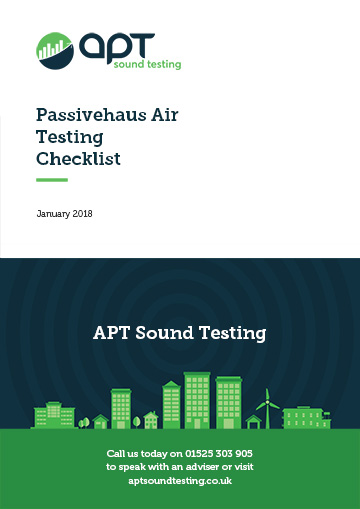 Passivehaus air testing checklist