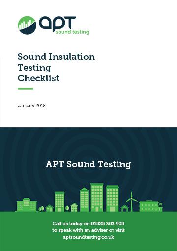 sound insulation testing checklist