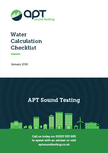Water calculation checklist