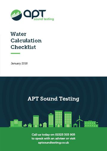 Water calculation checklist