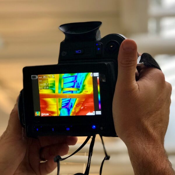 thermal imaging survey with infrared camera