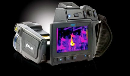 high resolution thermal imaging camera used on building inspections