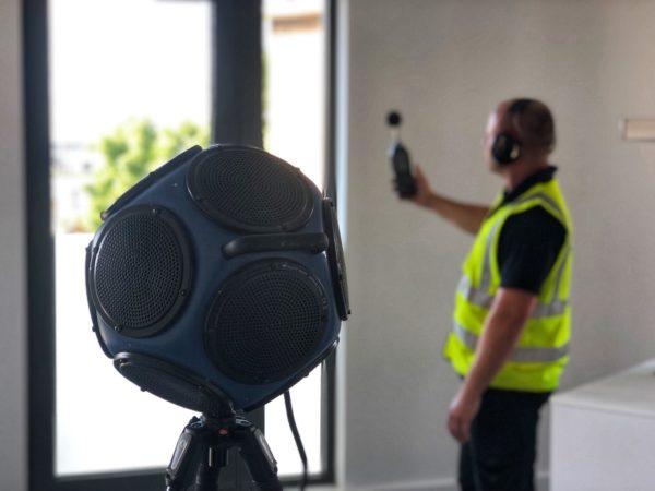 APT_Acoustic_Engineer_undertaking_sound_Insulation_Testing