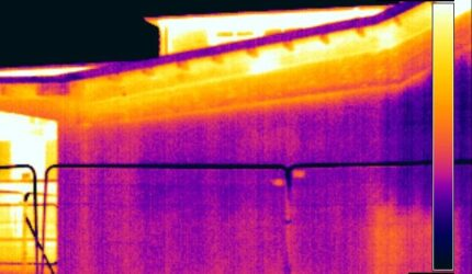 thermal imaging survey on a commercial building